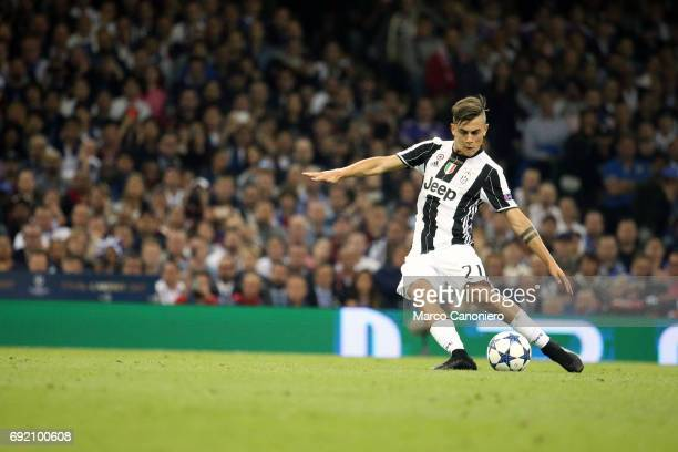 Paulo Dybala of Juventus FC in action during the UEFA Champions League final match between Juventus FC and Real Madrid CF Real Madrid beat Juventus...