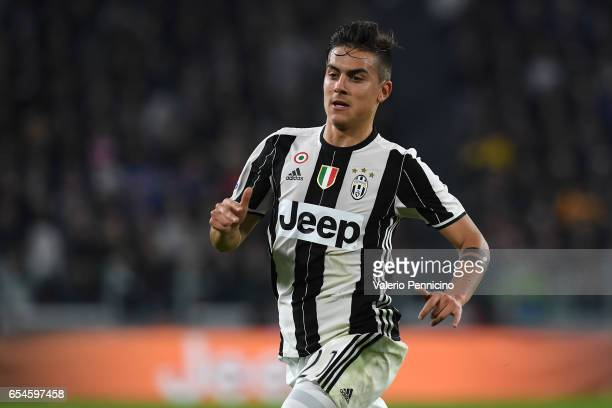Paulo Dybala of Juventus FC looks on during the Serie A match between Juventus FC and AC Milan at Juventus Stadium on March 10 2017 in Turin Italy