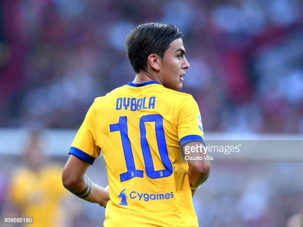 Paulo Dybala of Juventus FC looks on during the Serie A match between Genoa CFC and Juventus at Stadio Luigi Ferraris on August 26 2017 in Genoa Italy