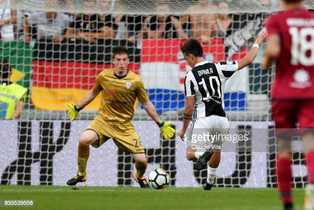 Paulo Dybala of Juventus FC scores the second goal during the Serie A match between Juventus and Cagliari Calcio at Allianz Stadium on August 19 2017...