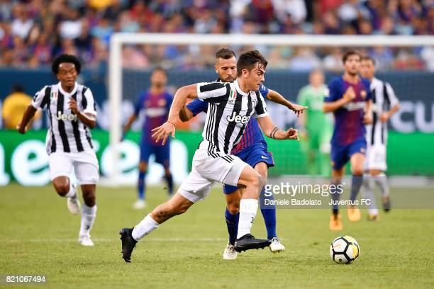 Paulo Dybala of Juventus in action during the International Champions Cup 2017 match between Juventus and FC Barcelona at MetLife Stadium on July 22...