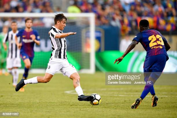 Paulo Dybala of Juventus in action during the International Champions Cup match between Juventus and Barcelona at MetLife Stadium on July 22 2017 in...