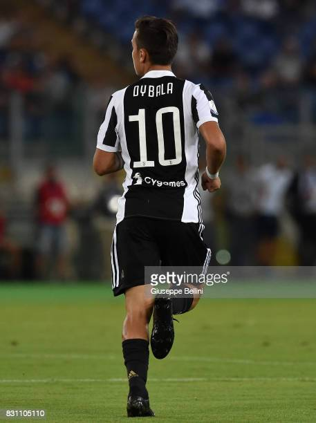 Paulo Dybala of Juventus in action during the Italian Supercup match between Juventus and SS Lazio at Stadio Olimpico on August 13 2017 in Rome Italy