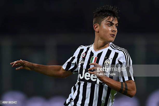 Paulo Dybala of Juventus in action during the Serie A match between US Citta di Palermo and Juventus FC at Stadio Renzo Barbera on November 29 2015...