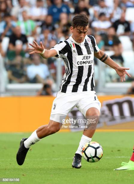 Paulo Dybala of Juventus in action during the Serie A match between Juventus and Cagliari Calcio at Allianz Stadium on August 19 2017 in Turin Italy