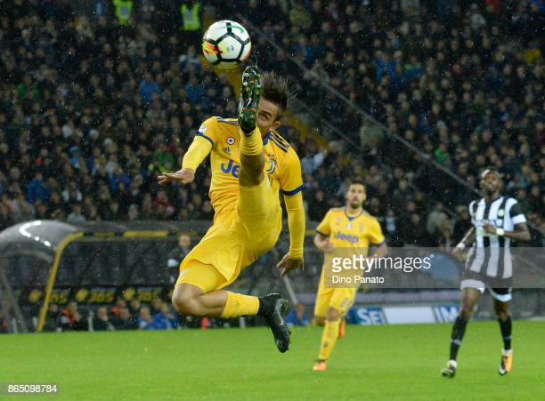 Paulo Dybala of Juventus in action during the Serie A match between Udinese Calcio and Juventus at Stadio Friuli on October 22 2017 in Udine Italy