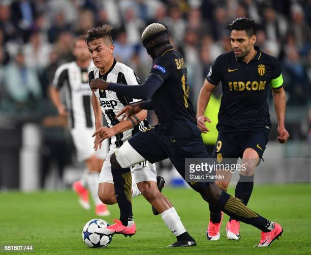 Paulo Dybala of Juventus is challenged by Tiemoue Bakayoko of Monaco during the UEFA Champions League Semi Final second leg match between Juventus...