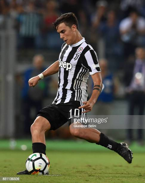Paulo Dybala of Juventus kicks the penalty and scores the goal 22 during the Italian Supercup match between Juventus and SS Lazio at Stadio Olimpico...
