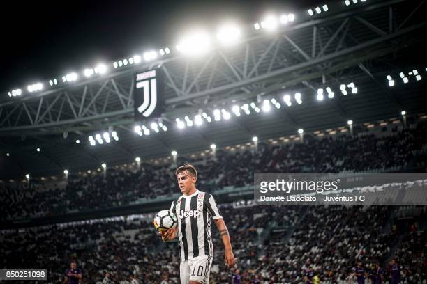 Paulo Dybala of Juventus looks on during the Serie A match between Juventus and ACF Fiorentina on September 20 2017 in Turin Italy
