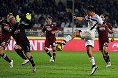 Paulo Dybala of Palermo scores his team's second goal during the Serie A match between Torino FC and US Citta di Palermo at Stadio Olimpico di Torino...