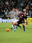 Paulo Dybala Stephan Lichtsteiner and Carlos Bacca during the serie A match between Juventus FC and AC Milan at the juventus stadium on november 21...