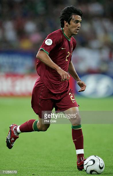 Paulo Ferreira of Portugal in action during the FIFA World Cup Germany 2006 Group D match between Portugal and Mexico at the Stadium Gelsenkirchen on...