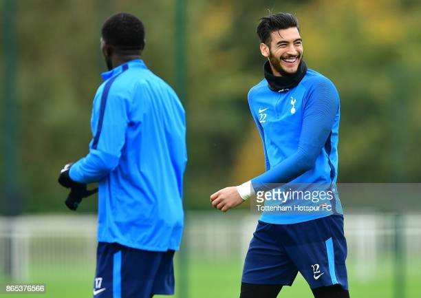 Paulo Gazzaniga during the Tottenham Hotspur training session at Tottenham Hotspur Training Centre on October 23 2017 in Enfield England