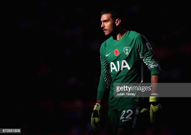 Paulo Gazzaniga of Spurs looks on during the Premier League match between Tottenham Hotspur and Crystal Palace at Wembley Stadium on November 5 2017...