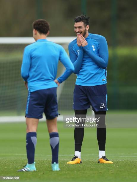 Paulo Gazzaniga of Tottenham during the Tottenham Hotspur training session at Tottenham Hotspur Training Centre on October 20 2017 in Enfield England