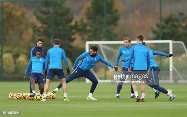 Paulo Gazzaniga of Tottenham during the Tottenham Hotspur training session at Tottenham Hotspur Training Centre on November 16 2017 in Enfield England