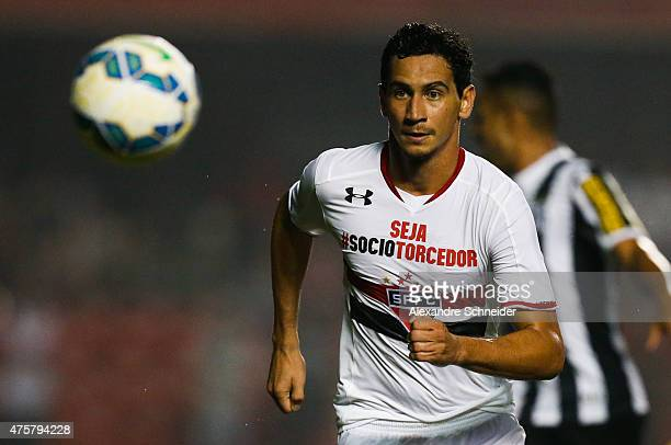 Paulo Henrique Ganso of Sao Paulo in action during the match between Sao Paulo and Santos for the Brazilian Series A 2015 at Morumbi stadium on June...