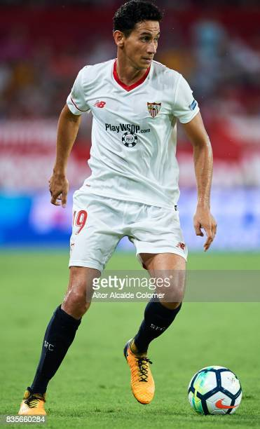 Paulo Henrique Ganso of Sevilla FC in action during the La Liga match between Sevilla and Espanyol at Estadio Ramon Sanchez Pizjuan on August 19 2017...