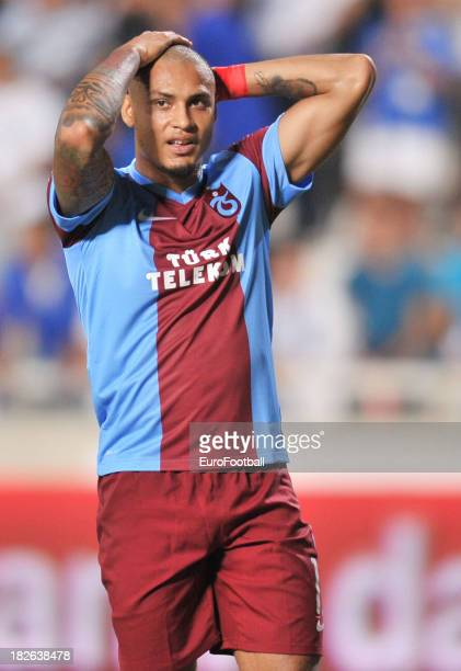 Paulo Henrique of Trabzonspor AS in action during the UEFA Europa Leaque group stage match between Apollon Limassol FC and Trabzonspor AS held on...