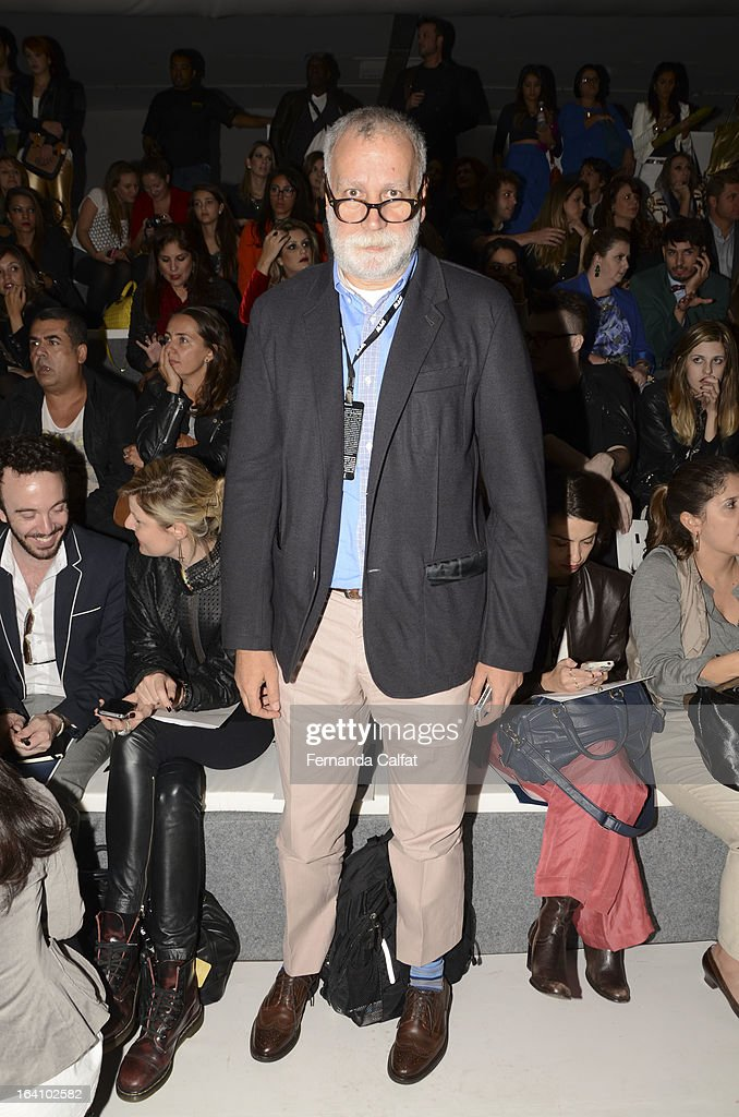 Paulo Martinez at the Forum show during Sao Paulo Fashion Week Summer 2013/2014 on March 19, 2013 in Sao Paulo, Brazil.