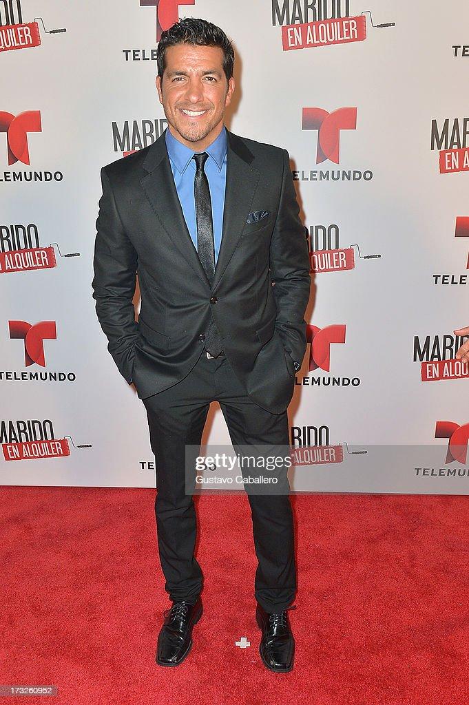 Paulo Quevedo attends Telemundos 'Marido en Alquiler' Presentation on July 10, 2013 in Miami, Florida.