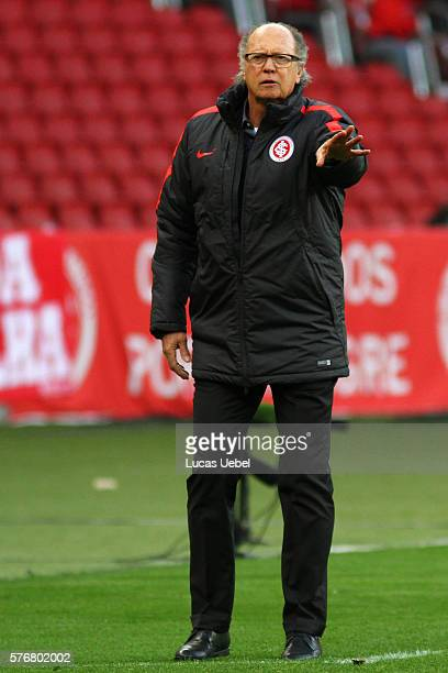 Paulo Roberto Falcao coach of Internacional during the match between Internacional and Palmeiras as part of Brasileirao Series A 2016 at Estadio...