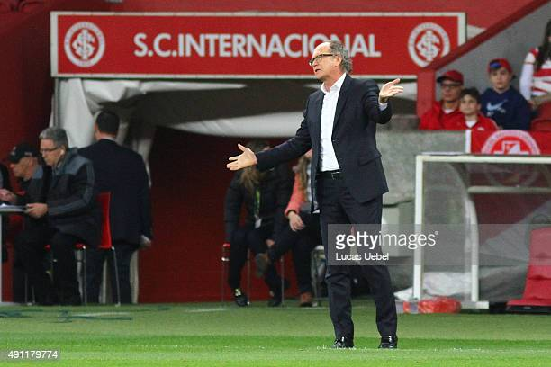 Paulo Roberto Falcao coach of Sport during the match between Internacional and Sport as part of Brasileirao Series A 2015 at Estadio BeiraRio on...