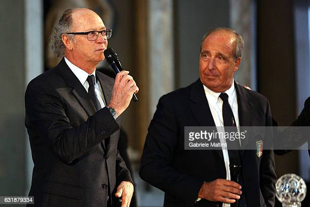 Paulo Roberto Falcao former player of AS Roma and Italian champions in the 19821983 seasonduring the Italian Football Federation Hall of Fame...