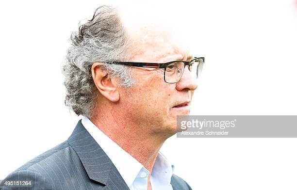 Paulo Roberto Falcao head coach of Sport Recife in action during the match between Sao Paulo and Sport Recife for the Brazilian Series A 2015 at...