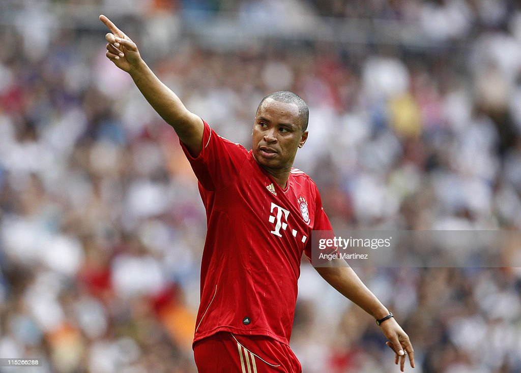 Paulo Sergio of Bayern Muenchen celebrates after scoring during the Corazon Classic Match between Allstars Real Madrid and Allstars Bayern Muenchen...