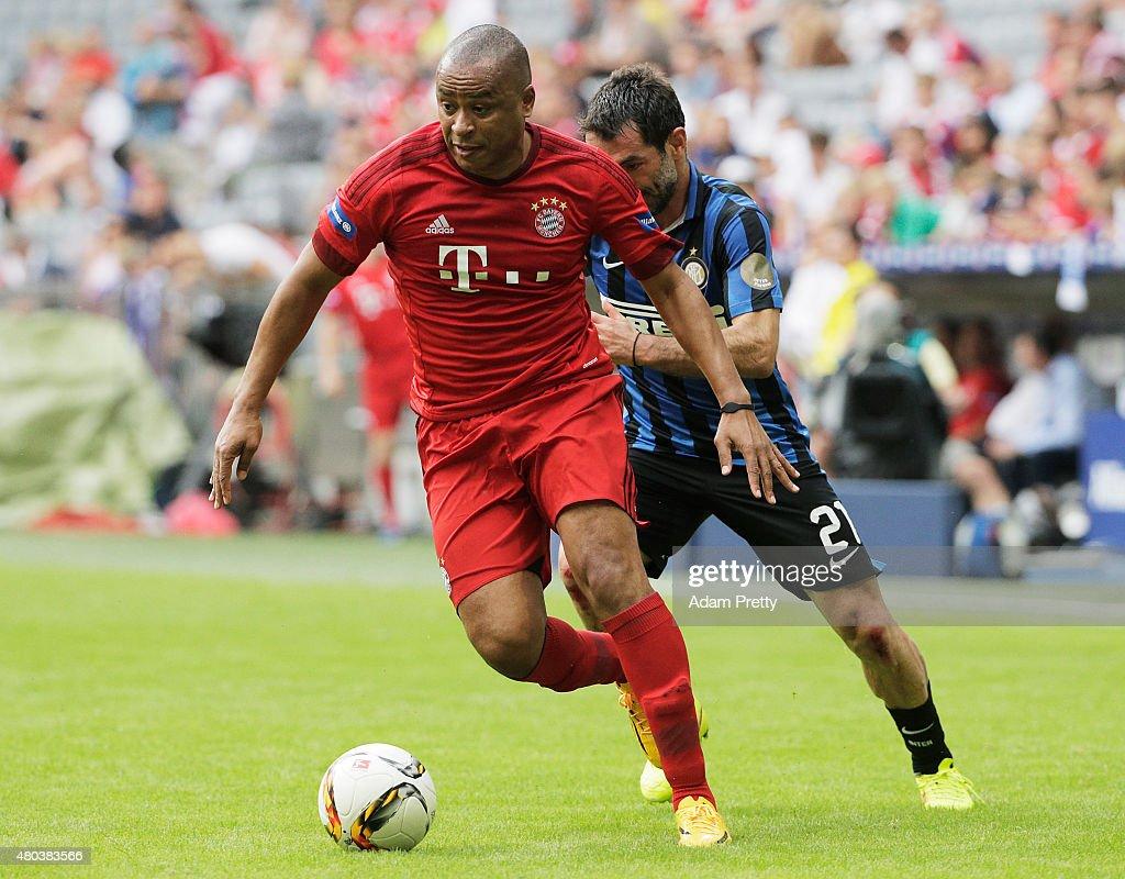 Paulo Sergio of FC Bayern Allstars in action during the FC Bayern Allstars vs the Inter Forever friendly match during the FC Bayern Muenchen Season...