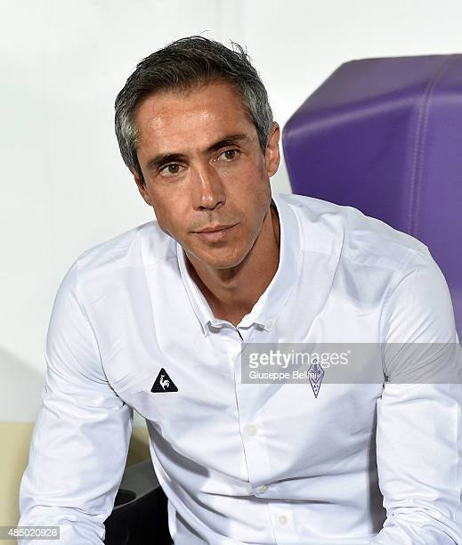 Paulo Sousa head coach of Fiorentina before the Serie A match between ACF Fiorentina and AC Milan at Stadio Artemio Franchi on August 23 2015 in...