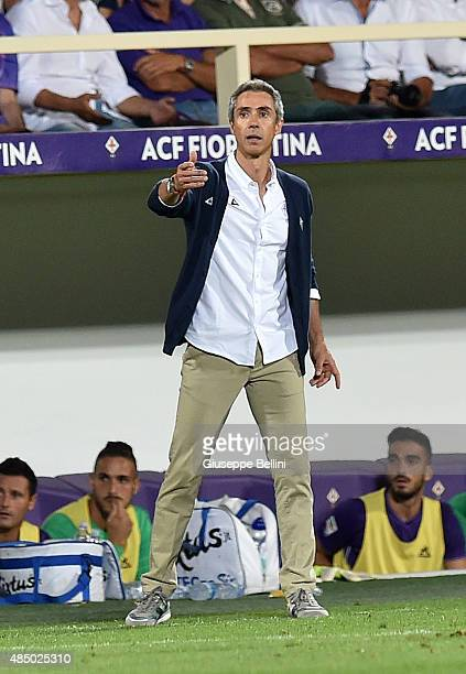Paulo Sousa head coach of Fiorentina during the Serie A match between ACF Fiorentina and AC Milan at Stadio Artemio Franchi on August 23 2015 in...