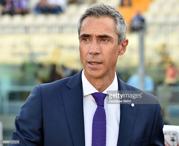 Paulo Sousa head coach of Fiorentina during the Serie A match between Carpi FC and ACF Fiorentina at Alberto Braglia Stadium on September 20 2015 in...