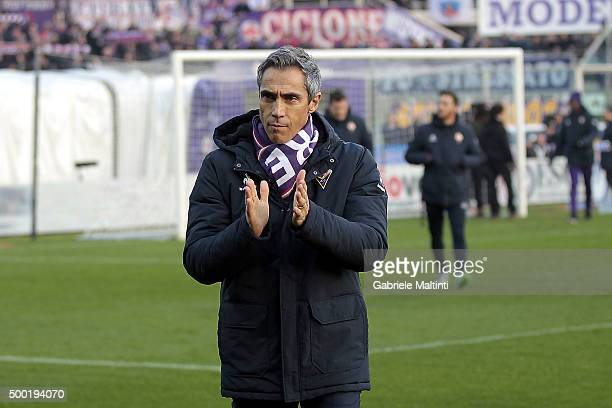 Paulo Sousa manager of AFC Fiorentina gestures during the Serie A match between ACF Fiorentina and Udinese Calcio at Stadio Artemio Franchi on...