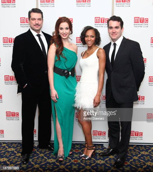 Paulo Szot Sierra Boggess Nikki M James and Brian D' Arcy James attend the 2012 Manhattan Theatre Club's Winter Benefit 'An Intimate Night' at The...