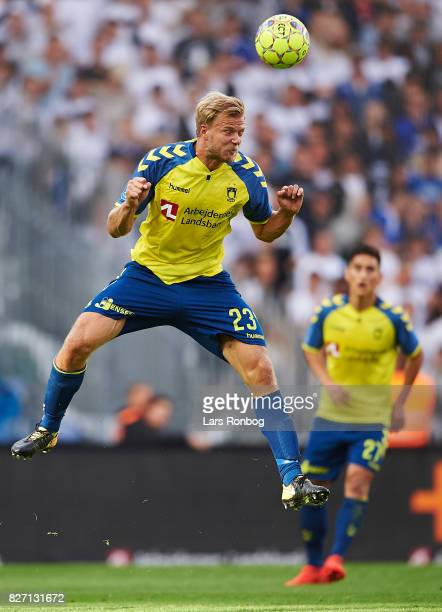 Paulus Arajuuri of Brondby IF in action during the Danish Alka Superliga match between Brondby IF and FC Copenhagen at Brondby Stadion on August 6...