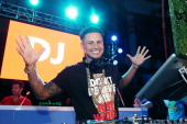 Pauly D hosts performs at The Pool After Dark at Harrah's Resort on Saturday May 25 2013 in Atlantic City New Jersey