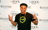 Pauly D spins at The Pool After Dark Harrah's Resort on Saturday October 13 2012 in Atlantic City New Jersey
