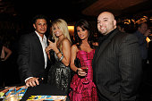 Pauly DelVecchio Angel Parrino Laura Croft and Mustafa Abdi attend Maxim's April cover party at Koi Restaurant at Planet Hollywood Resort and Casino...