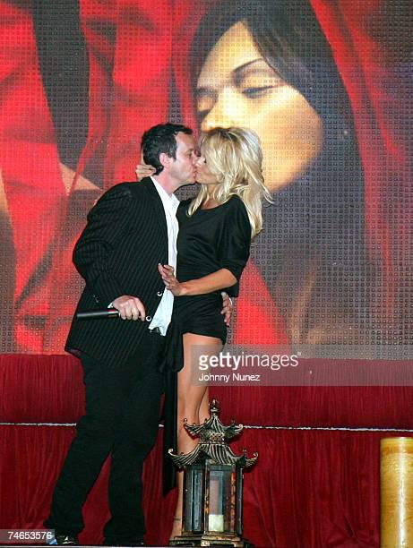 Pauly Shore and Pamela Anderson at the Tao in Las Vegas Nevada