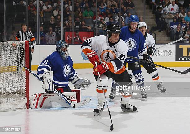 Pavel Bure skates in the Hockey Hall of Fame Legends Game at the Air Canada Centre on November 11 2012 in Toronto Canada Bure will be inducted into...