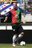 Pavel Cmovs of NEC during the Dutch Eredivisie match between SC Heerenveen and NEC Nijmegen at the Abe Lenstra stadium on August 12 2012 in...