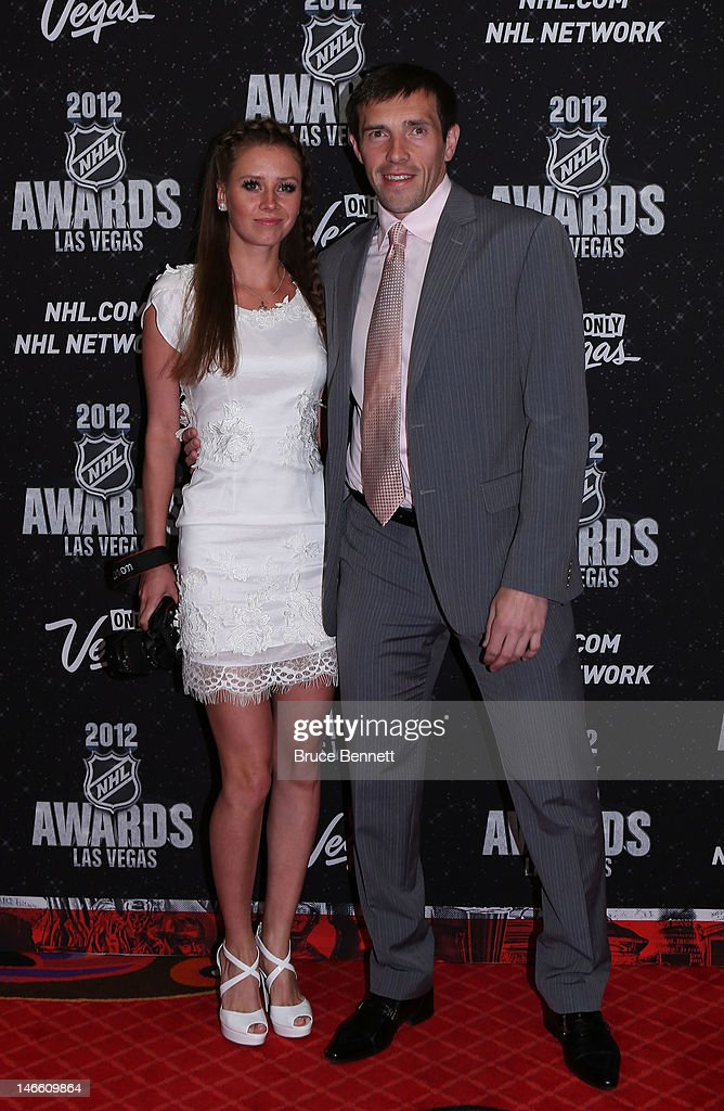 Pavel Datsyuk of the Detroit Red Wings arrives with guest before the 2012 NHL Awards at the Encore Theater at the Wynn Las Vegas on June 20, 2012 in Las Vegas, Nevada.