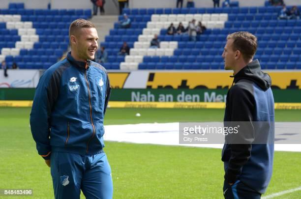 Pavel Kadebarek of the TSG 1899 Hoffenheim and Vladimir Darida of Hertha BSC before the game between TSG Hoffenheim and Hertha BSC on september 17...