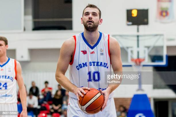 Pavel Marinov during the LNBM Men's National Basketball League game between CSM Steaua Bucharest and BC Mures TarguMures at Sala Regimentul de Garda...