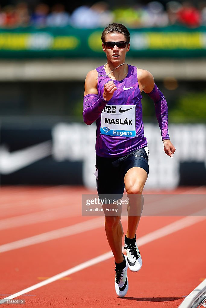 Pavel Maslak of Czech republic competes in yhe 400m during day 2 of the IAAF Diamond League Prefontaine Classic at Hayward Field on May 30, 2015 in Eugene, Oregon.