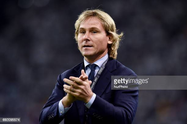 Pavel Nedved company director of Juventus during the UEFA Champions League Final match between Real Madrid and Juventus at the National Stadium of...