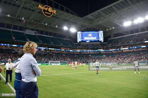 Pavel Nedved of Juventus before the International Champions Cup 2017 match between Paris Saint Germain and Juventus at Hard Rock Stadium on July 26...