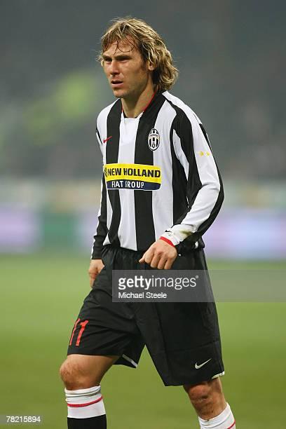 Pavel Nedved of Juventus during the Serie A match between AC Milan and Juventus at the San Siro stadium on December 1 2007 in MilanItaly